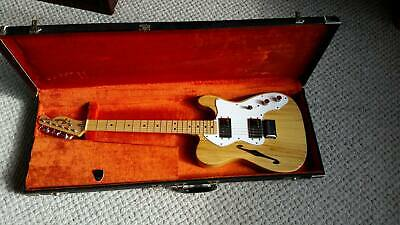 Fender Classic 1973 1974 Telecaster Thinline Electric Guitar Rare Mint with Key
