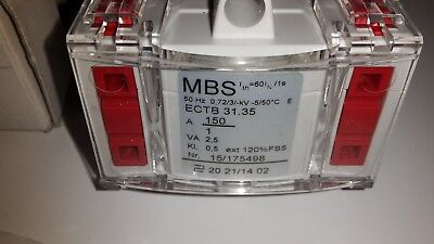MBS ECTB 31.35 150/1A, 2,5VA Kl.0,5 Stromwandler Primärst. 200A Sekundärst. 5A