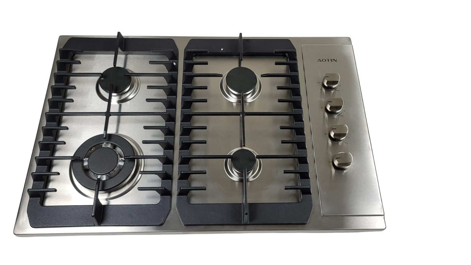 "AOTIN 30"" Stainless Steel 4 Burners Gas Cooktop Built-in LPG"