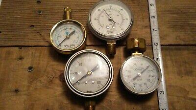 Lot Of 4 Vintage Pressure Gauges Orbit Victor Marshall Town. Steampunk