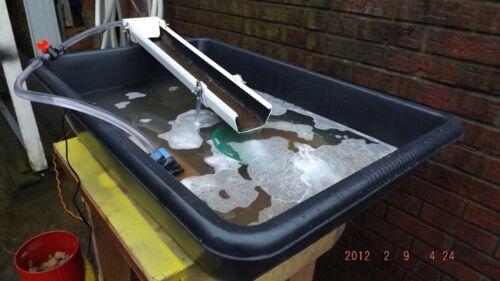 Fine Gold Recovery Recirculating w/ pump Mini Sluice Box / legs / carpet /