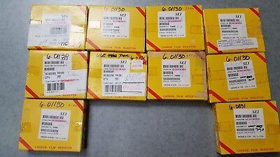 Carbon Film Resistors Sei Electronicscf 14w 5 Mix Values Lot Of 6700 Pcs