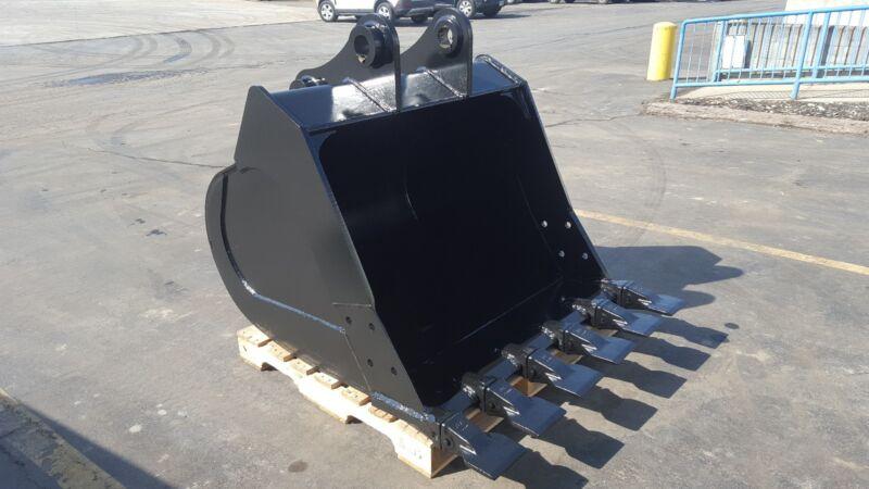 "New 48"" Komatsu Pc160 Excavator Bucket With Coupler Pins"