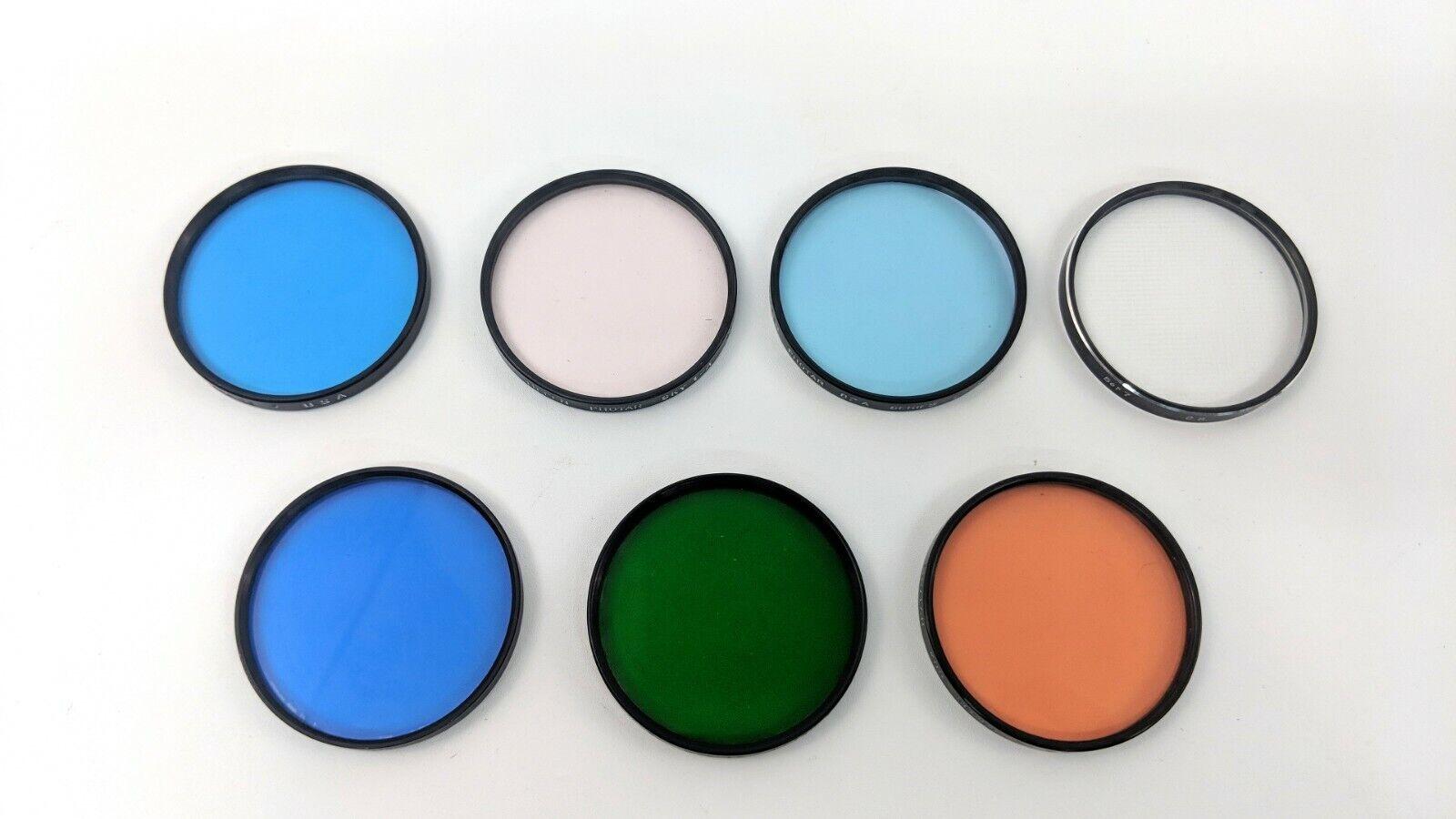 Lot of 7 Vintage Tiffen Photar Series 7 Drop In Filter Set 80C,82,Sky1-A,Green 1