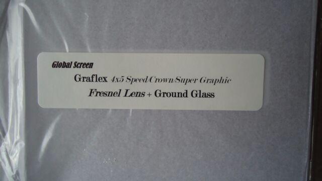 New Graflex Speed/Crown/Super Graphic 4x5 Camera Fresnel Lens+ Ground Glass