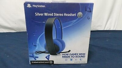 Sony Playstation Silver Wired Stereo Headset -Broken-