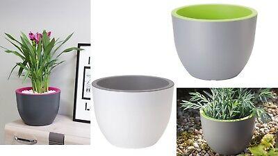 Large Flower Pot Pots Modern Round Design Strong Plastic Home Garden many sizes