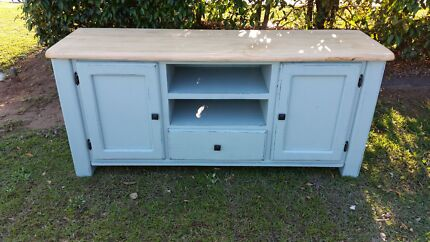 Country farmhouse entertainment unit shabby chic sideboard  Griffin Pine Rivers Area Preview