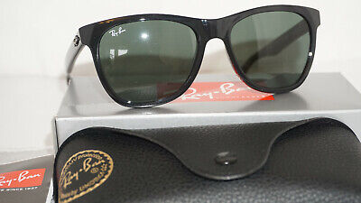 RAY BAN New Sunglasses Wayfarer Highstreet Black Green G-15 RB4184 601/71 54 (Ray Ban Highstreet Wayfarer)