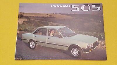 Peugeot 505 GR TI GRD STI SRD SR car brochure sales catalogue 1980 MINT