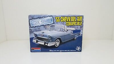 1955 Chevy Bel Air Convertible Monogram Car Show Model Kit 1:25 Scale Kit 4269