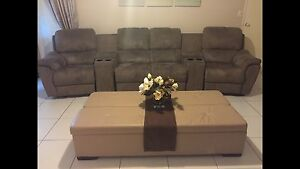 Recliner Lounge Sofa Suite & Coffee Table Ottoman wth Pullout Bed Calamvale Brisbane South West Preview