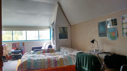 Attic Room with limited use Studio Space in Creative Sharehouse