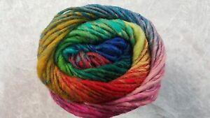 Noro Kureyon #362 Pink Green Blue Yellow Orange Mix 50g