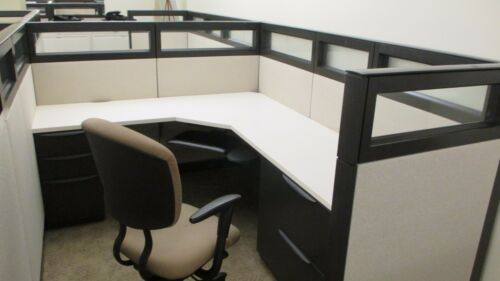 Used Office Cubicles, Haworth Premise Cubicles 6x6