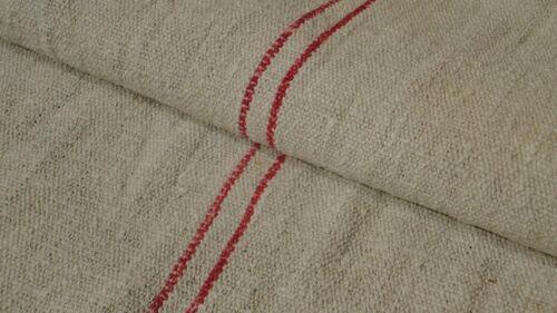 Antique European Feed Sack GRAIN SACK Red Stripe # 7957
