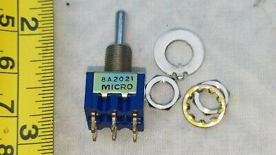 2 Lot Dpdt Mini Toggle Switch On-off-on 6a 125vac Micro Switch Brandusa Stk