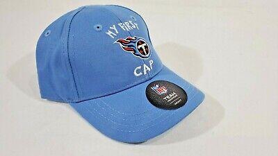 LZ NFL Apparel Infant Sz 1-2 Tennessee Titans Elastic Back Baseball Cap Hat -