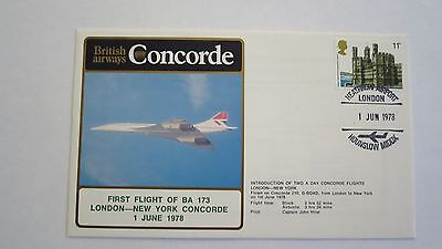 CONCORDE First Day Cover  LONDON -NEW YORK