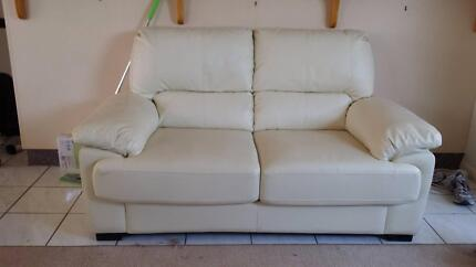 2x2 seater Storm Sofa Lounges, Beige PU Leather look Boondall Brisbane North East Preview