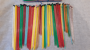 50+ Pairs of Vintage Plastic Knitting Needles Belrose Warringah Area Preview
