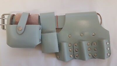 Hi Viz Scaffolding Real Leather Tool Belt Top Quality Triple Spanner Edition
