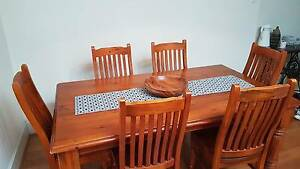 Solid wood dining table + 6 chairs Sydenham Marrickville Area Preview