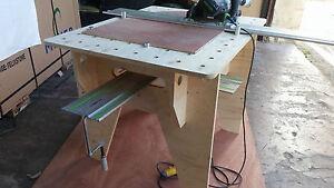 Festool makita dewalt track saw portable workbench for Diy portable router table