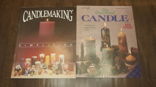 Set/2 Different VTG Booklets w/Pictures/Instructions x CANDLEMAKING Projects