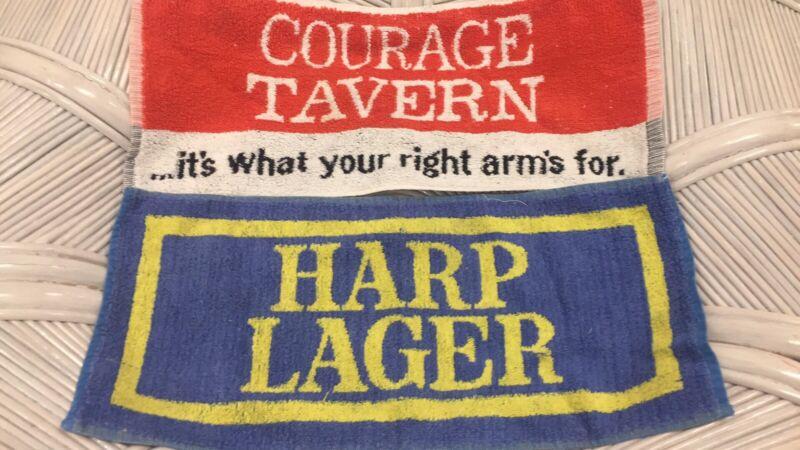 Lot of 2 beer bar towels.