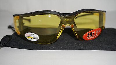 Night Driving Sunglasses ANSI Z87.1 Polycarbonate Foam Lens Sunglasses