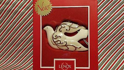 """LENOX """"GOLDEN SCROLL DOVE ORNAMENT"""" --- NEW IN BOX"""