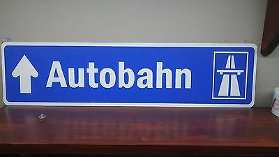 "Autobahn European Street Aluminum Sign  6"" x 24"""