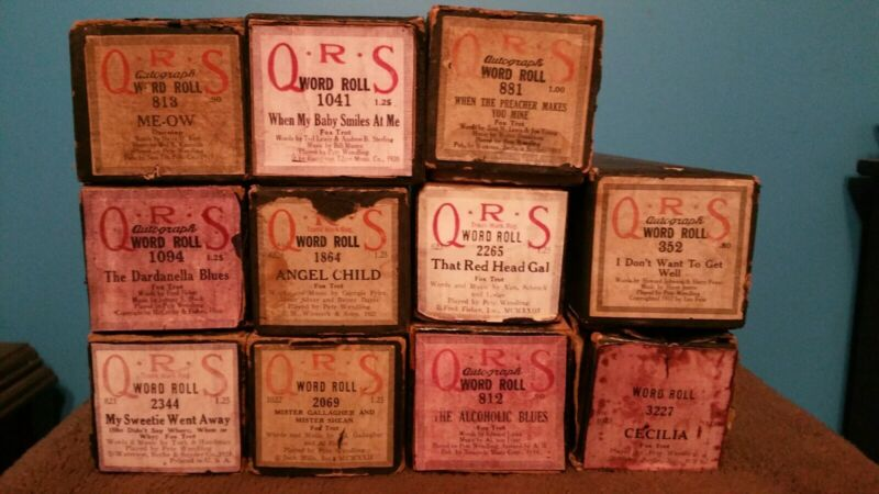 Pete Wendling piano rolls. Lot of 11
