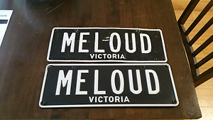 'MELOUD' NUMBER PLATES Rosebud Mornington Peninsula Preview