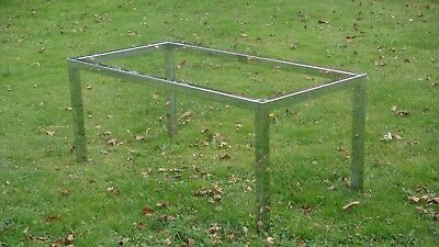 Italian designer glass and chrome dining table or large work desk