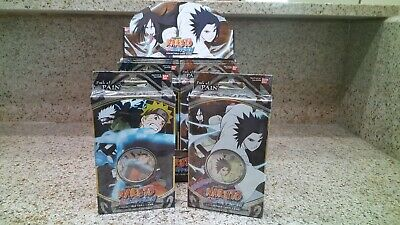 Naruto CCG TCG Card Game Path Of Pain Starter Deck Set of 2 Sasuke Uchiha -