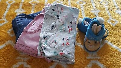Pyjamas & Sleepers Bundle, BabyGirl 1 1/2-2 Years, 18-24 mths ,M&S, Peter Rabbit for sale  Shipping to South Africa