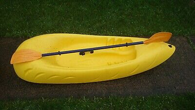 Sit On Top Kayak With Paddle For Kids Children Plastic 6ft Sea River Lake x2