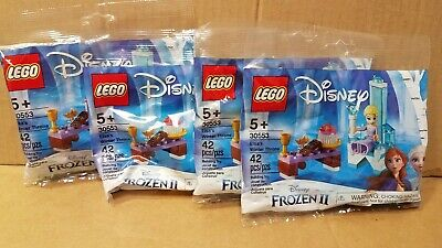 Lot of 4 x LEGO 30553 Frozen 2 Elsa's Winter Throne New in Poly Bag 42 pieces