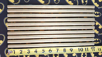 12 C360 Brass Solid Round Rod 10 Pieces 12 Long New Lathe Bar Stock .500