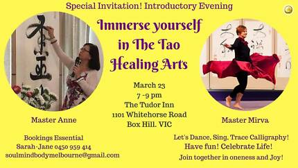 Immerse yourself in the Tao Healing Arts (Complimentary Evening)