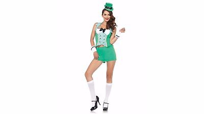 Sexy LUKY CHARMS Darlin Leprechaun Deluxe Costume Party Dress HALLOWEEN NEW S/M](Halloween Costumes News)