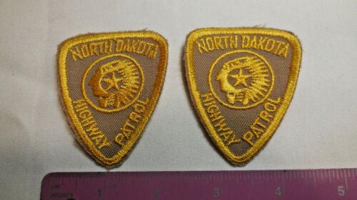 2 North Dakota Obsolete Vintage NEW Highway Patrol Cloth Shoulder Uniform Patch
