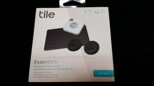 Tile Essentials (2020) 4-pack (1 Mate, 1 Slim, 2 Stickers) - Bluetooth Tracker
