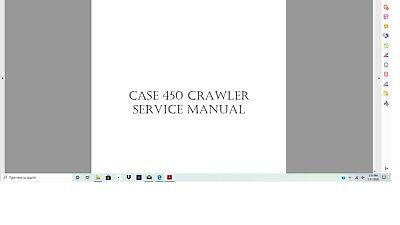 Case 450 Dozer Crawler Service Manual
