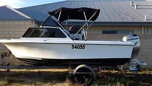 Pacemaker Half Cabin Cruiser 5.3m with Honda 75 Busselton Busselton Area Preview