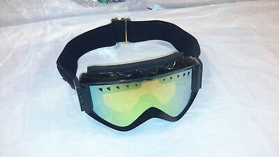 23cb496658e Anon M2 Goggles Snow Boarding Padded Vented Black Gold Extreme Sports  Headwear