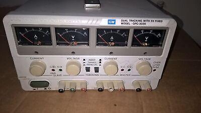 Gw Instek Gpc-3020 Triple Output Dc Power Supply 2 0-32v Dc 2.2a 5v Dc Fixed