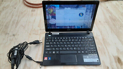 """11.6"""" Acer Aspire One laptop 725-0825 AMD Dual-Core C-60 4GB DDR3 320GB HDMI/VGA"""